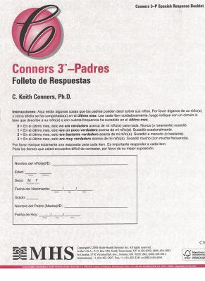 Conners 3 Padres Response Booklets Spanish
