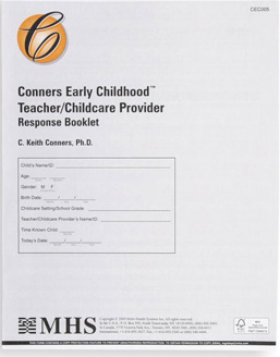 Conners Early Childhood Teacher/Childcare Provider Response Booklet