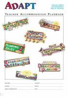 ADAPT Teacher Planbooks