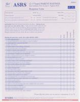 ASRS (2-5 yrs) Parent Response Forms