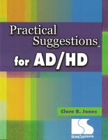 Practical Suggestions for AD/HD